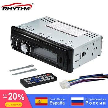 Hurtownie cyfrowy samochodowy Bluetooth MP3 odtwarzacz odbiornik FM Radio Stereo Car Audio muzyka USB SD z w desce rozdzielczej gniazdo AUX pilot zdalnego sterowania