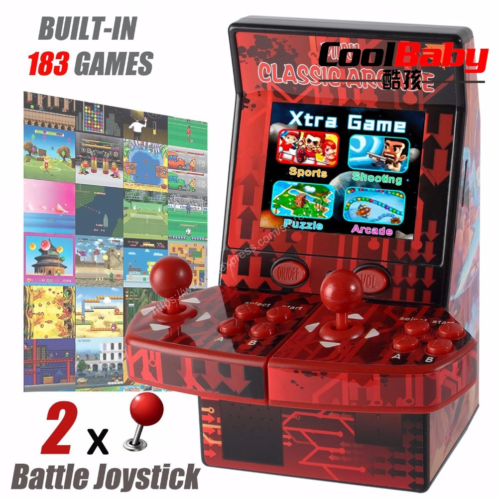 183 in 1 Mini Double Hand-held Gaming Console Games Device Retro Style Mini Classic Arcade Machine Support TF Card