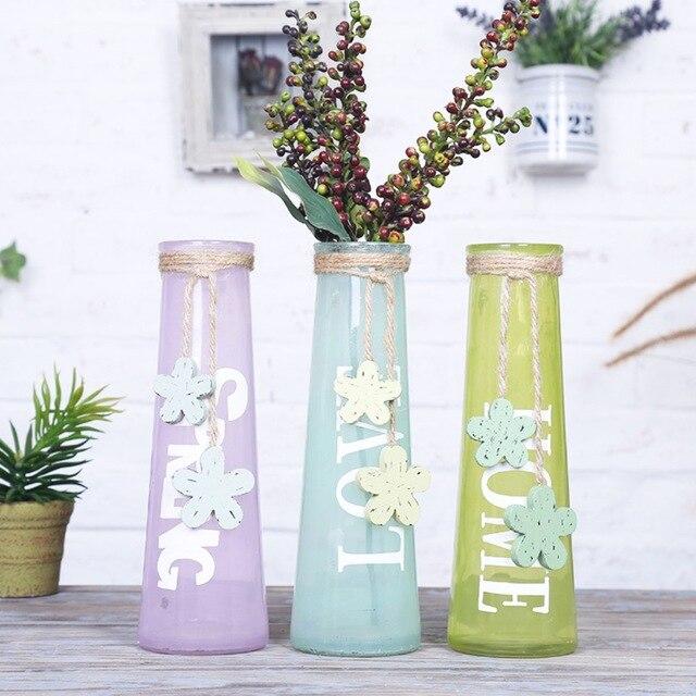 Colorful Modern Style Glass Tabletop Plant Bonsai Flower Wedding