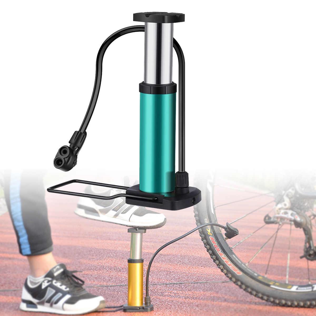 Sews-vélo pompe Mini vélo pompe de sol pied activé vélo pompe à Air et en alliage d'aluminium Portable vélo pompe VTT pneu P