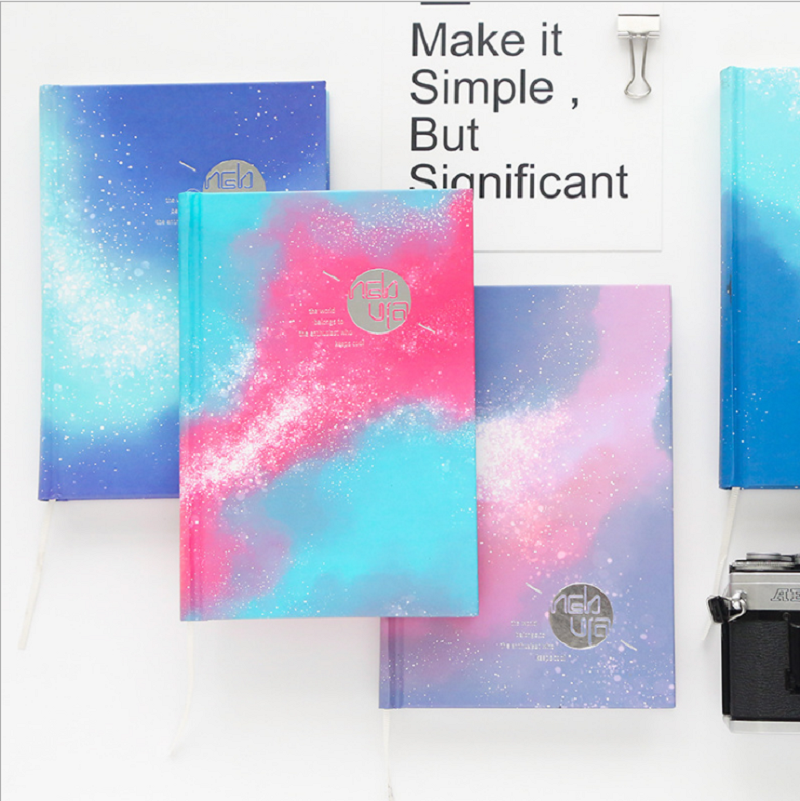 Bright Nebula notebook cute kawaii notepad agenda 2018 daily planner Creative office school stationery supplies gift for girl 1pc small fresh flower notepad notebook diary notebook korea creative stationery upscale gift cute school supplies