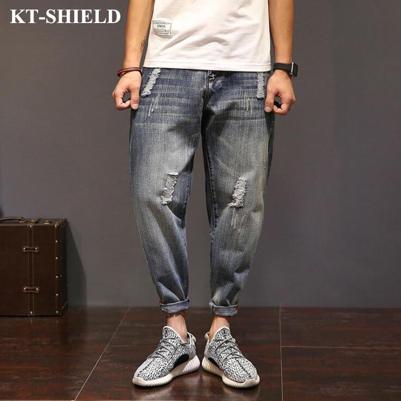 2017 New Men Jeans Hip Hop Fashion Men s Brand Pants Vintage Casual Denim Pants Male