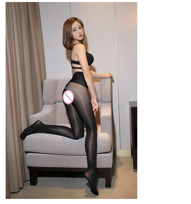 Smoothly Magic High Waist Pantyhose, Shiny Than Oil Glossy 8D Ultrathin Seamless Crotch Tights Transparent 24