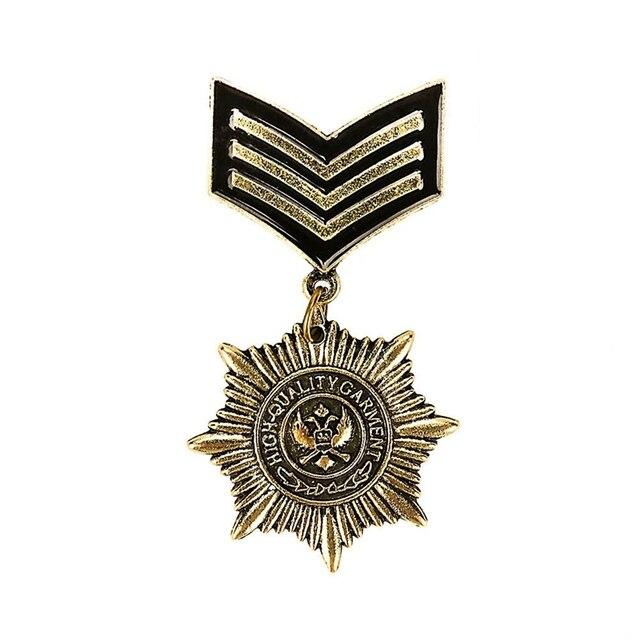 Новинка 2018 года для мужчин's Винтаж Британский колледж Ветер металлическая звезда медаль значки Орел Военная униформа значок брошь унисекс