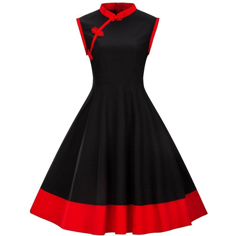 781e8ff5a 3XL 4XL talla grande mujer ropa Pin UP Vestidos verano Retro Casual fiesta  bata Rockabilly 50 s 60 s ...