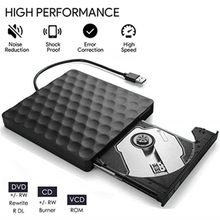 Kuwfi USB 3,0 Externe DVD Drive CD DVD-RW Stick Rom Rewriter Brenner Schriftsteller 5Gbps für Laptop Desktops