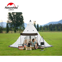 Naturehike Pyramid Outdoor Camping Hiking Tent Family Tent For 3 8 People Camping 4 Season Tent Big Space Camping Hiking Tent