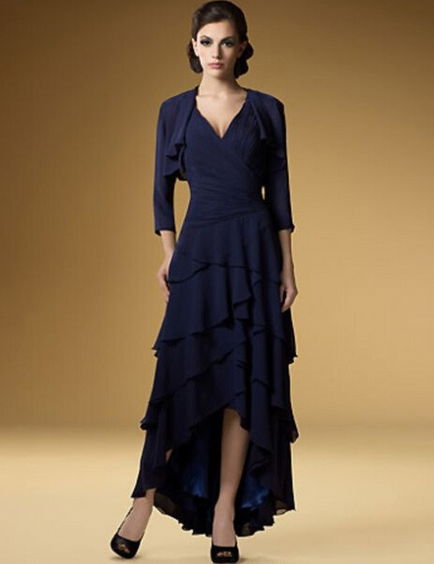 Chiffon Mother Of The Bride Dresses With Jacket Pant Suits