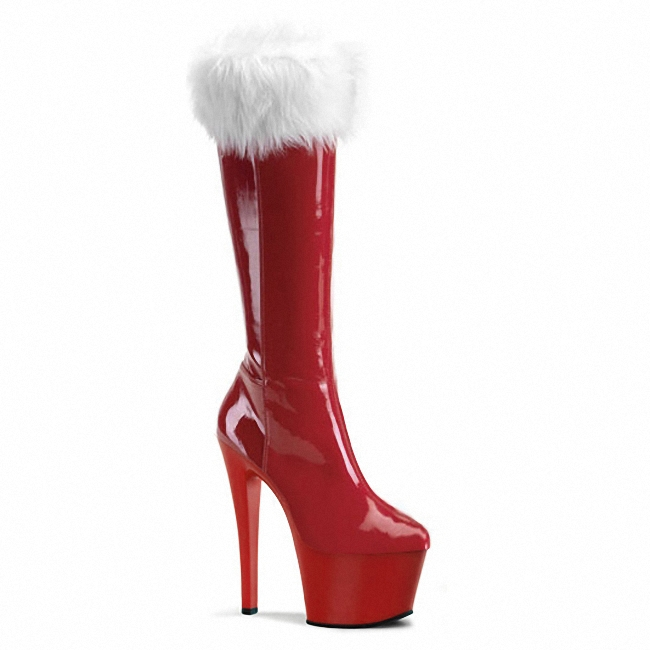 2016 fashion women's high boots sexy red bottom heels suede and pu leather boots shoes in the fall and winter in the new winter boots sexy 2016 meters white hollow pointed red bottom short boots sm70887bt k1