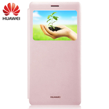 Huawei MateS Case Flip Cover case Smart Window View Luxury Original For Huawei Mate S PU Leather Stand Protective Sleep Wake fresh flower pattern pu leather cover case w view window for iphone 6 purple