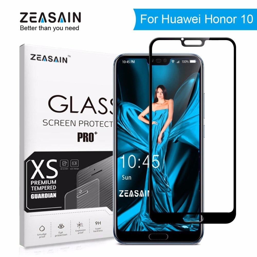 Original ZEASAIN 9 H Volle Abdeckung Gehärtetem Glas für Huawei Honor 10 Honor10 Screen Protector 2.5D Gehärtetem Sicherheits Glas Film