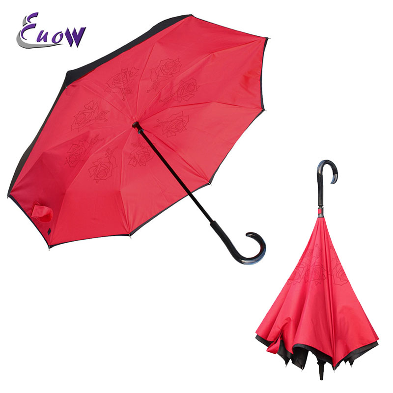 Silkclo New Windproof Uv Protection Reverse  Umbrella Sunny or rainy - Household Merchandises