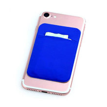 Elastic Lycra Credit Phone Card Holder Pocket Adhesive Fashion Women Men Cell ID Card Holder Slim Case sticker Bus Card(China)