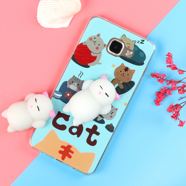 the best attitude f4662 a78a5 US $1.63 |Funny Cute Cat Squishy Case for iPhone X 8 4 4S 5 5S SE 5C 6 6S 7  Plus Soft TPU Cartoon Back Cover Cat Phone Case-in Fitted Cases from ...