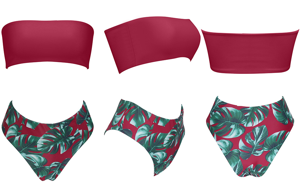 HTB1JMYBAVmWBuNjSspdq6zugXXaO MOSHENGQI Sexy Bandeau Bikini 2019 Swimsuit High Waist Bathing Suit Black Bikini Set Female Swimwear Women Push Up Swimming Suit