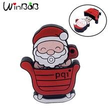 USB-stick Weihnachtsmann USB-stick 4G-stick 8G weihnachtsgeschenk-usb 16G 64 gb usb 2.0 32G pendrive mit kette