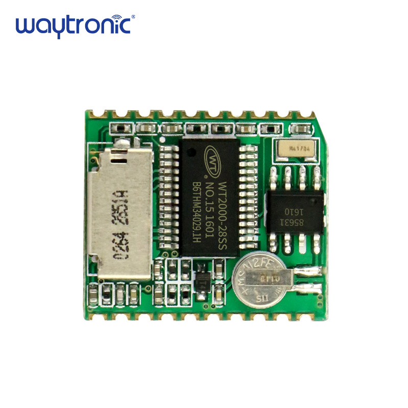 Wt2000B04 Mp3 Voice Recordable And Playback Circuit Module With Mic Line-In Aux Recording Operate Assist Sd Card Uart Management