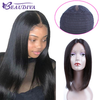 BEAU DIVA Brazilian Lace Front Human hair Wigs For Women Non Remy Hair Wig With Human Hair Natural Color 100% Human Hair Wigs