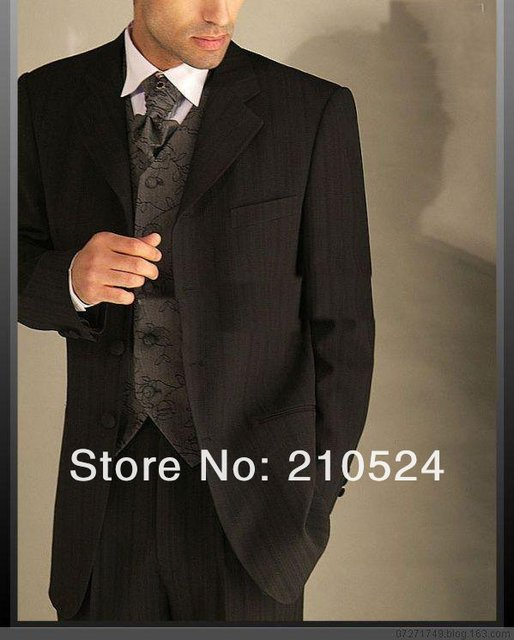 2017 Westen Style New Arrival The Best Man Suit Broom Lapel Neck Wedding Dress Brown Grim