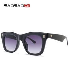 TAOTAOQI Luxury Brand Oversized Square Sunglasses Women Men Designer Retro Frame Sun Glasses Male Female Rivet Eyewear