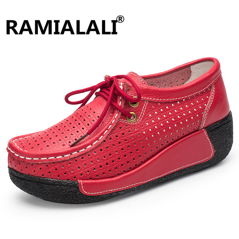 Casual 2018 Maille Sneaker Chaussures Coins Femmes Chaussure Femme Respirant Pour Creux rouge Plate forme blanc jaune Ramialali Noir Air Dames Swing w1IBEXxxq
