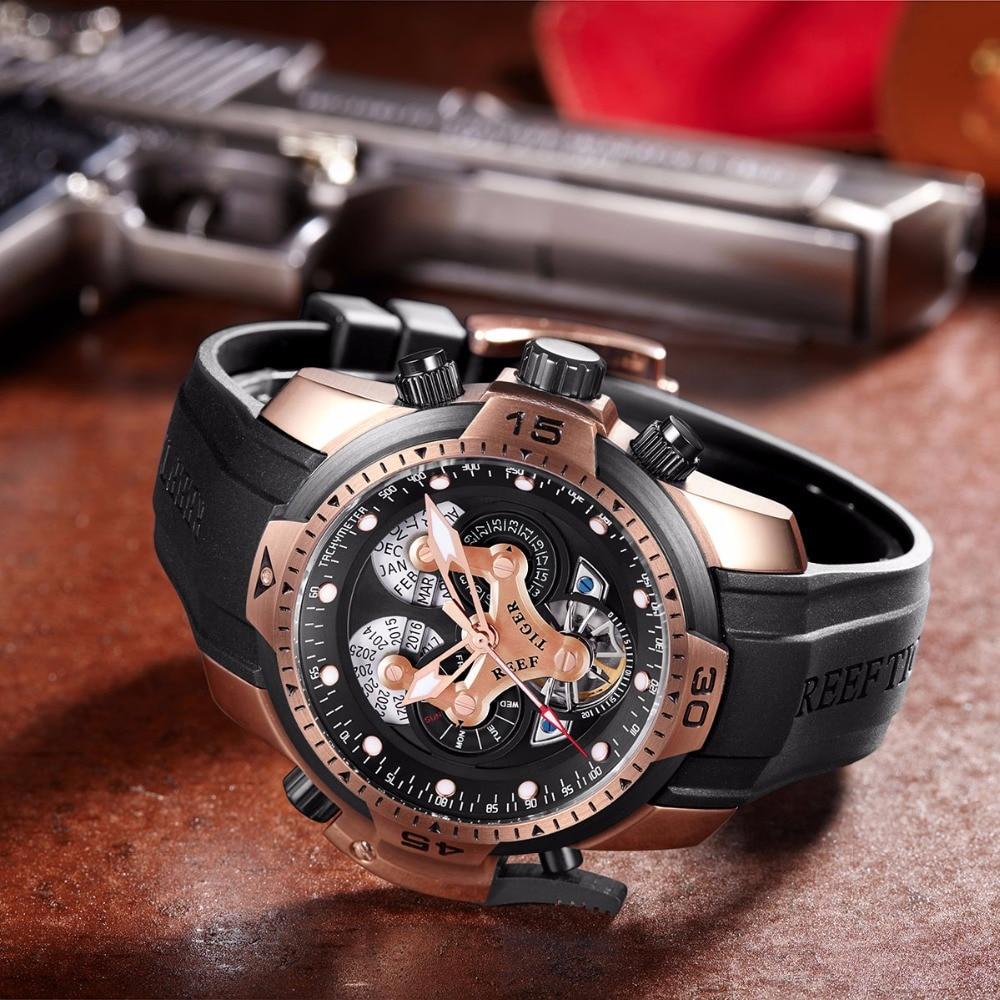 Reef Tiger / RT Męskie Zegarki Sportowe z Skomplikowaną Tarczą - Męskie zegarki - Zdjęcie 4