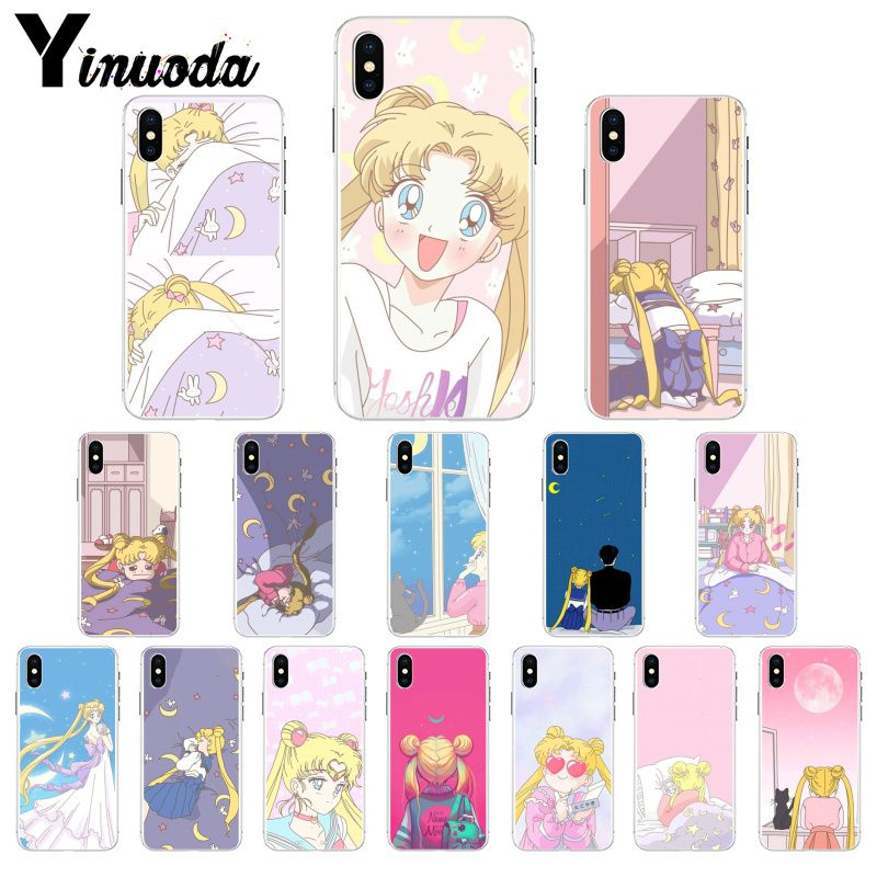 Yinuoda Funny Cartoon Anime Girlsailor Moon Coque Shell Phone Case For Iphone 8 7 6 6s Plus X Xs Max 5 5s Se Xr 10 Fundas Capa Half-wrapped Case Cellphones & Telecommunications
