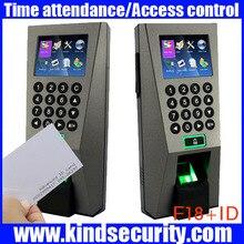 Sistema de Gestión de Edificios biométrica F18 ID Sistema de Seguridad Biométrico de Huellas Digitales de Control de Acceso y Tiempo Attendence con TCP/IP