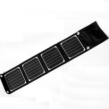 14W Outdoor folding Solar Panel USB Output Portable Foldable Power Bank waterproof travel Solar Charger phone