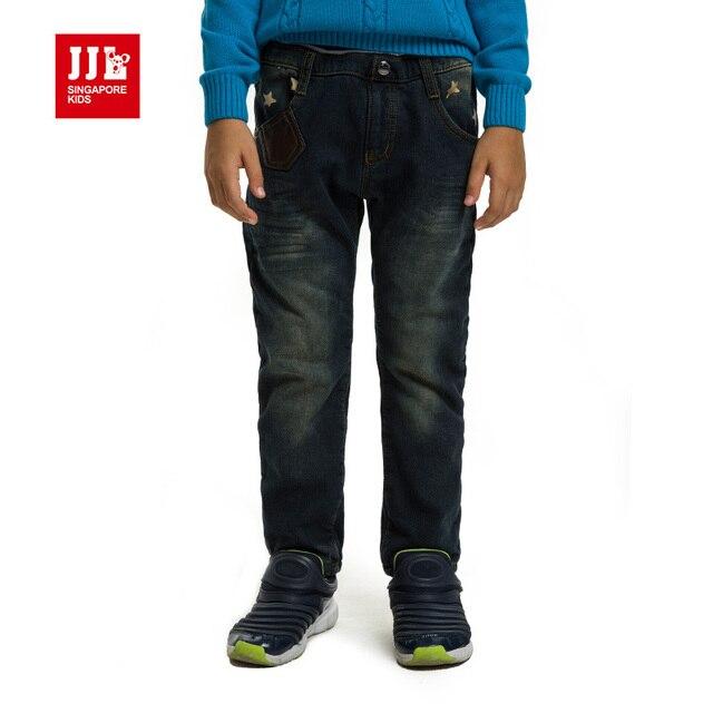 2015 мальчики джинсы бренд дети джинсы модные прямые джинсы дети звезда шаблон брюки для детей мальчики зима брюк размер 6-15y