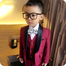 New Design Flower Boys Wedding Suit 3PCS Boys Party Black Shawl Lapel Costume Homme Boys Spring Formal Clothing Set Kids Suits цена