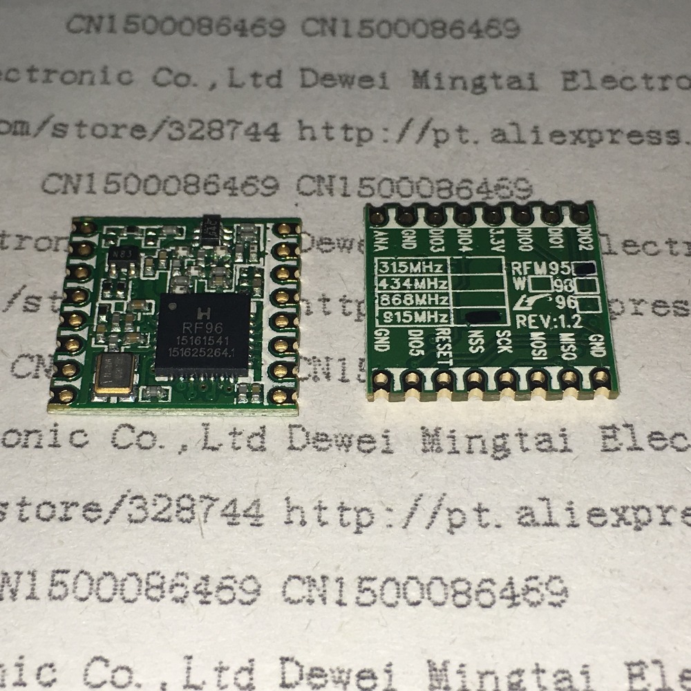 2PCS/LOT RFM95 20dBm The Wireless Transceiver Module RFM95-915MHZ