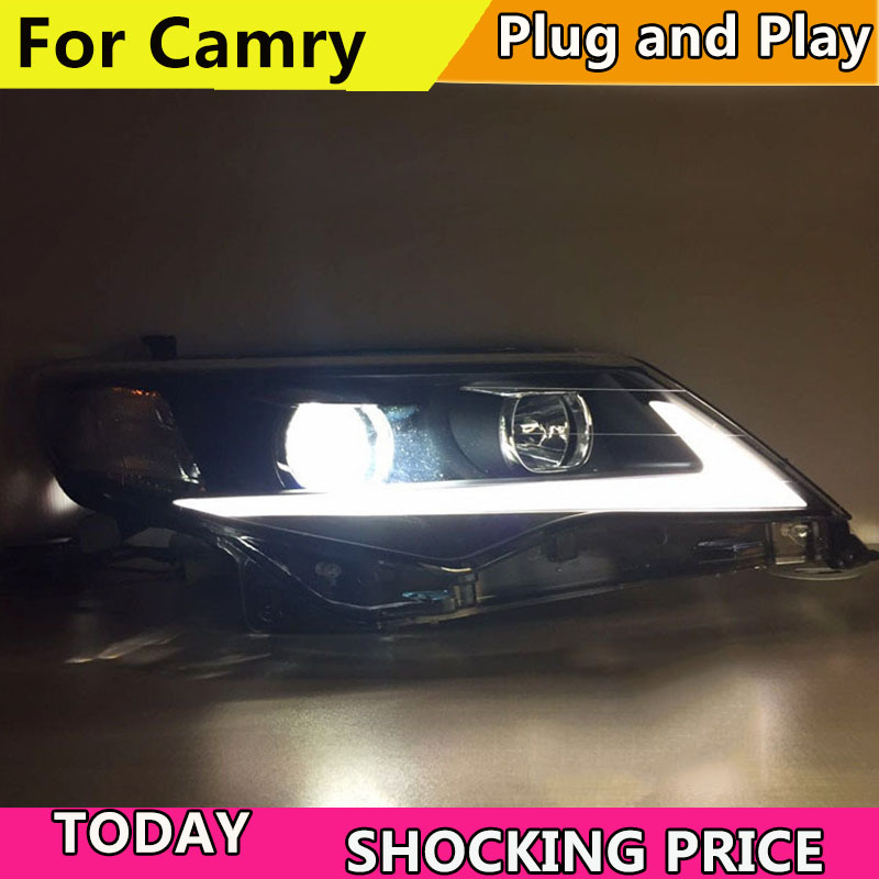KOWELL Car Styling For Ford Mondeo 2013 2015 LED Headlight for Mondeo Head Lamp LED Daytime