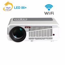 LED86+ wifi led projector Android 4.4.2 HD LED 3D Smart Projector  5500 lumens proyector Beamer 1080p HDMI Video Multi screen