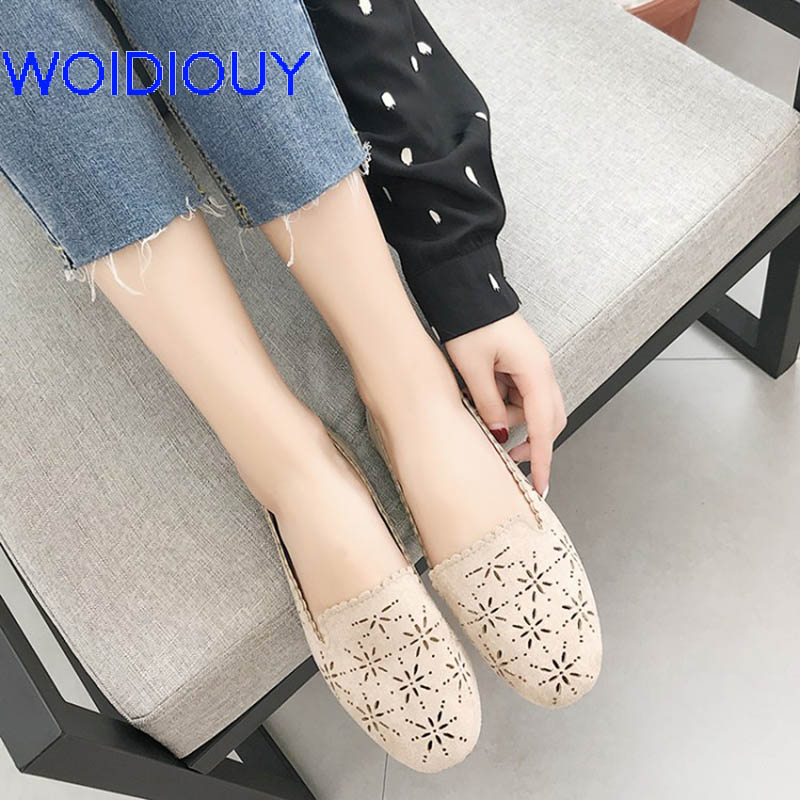 Women's Loafers Lady Girl Flat shoes Summer Flats Casual Jelly Shoes Solid Hollow Out Mesh Flats Femininas Women Slip Shoe xiaying smile hollow out flats shoes women boat shoes summer casual loafers slip on pointed toe shallow rubber women solid shoes