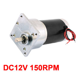 Uxcell(R) Hot Sale 1Pcs TJP60FR34.4i-Z8001 DC12V 150RPM Speed 8mm Eccentric Shaft Dia DC Geared MotorUxcell(R) Hot Sale 1Pcs TJP60FR34.4i-Z8001 DC12V 150RPM Speed 8mm Eccentric Shaft Dia DC Geared Motor
