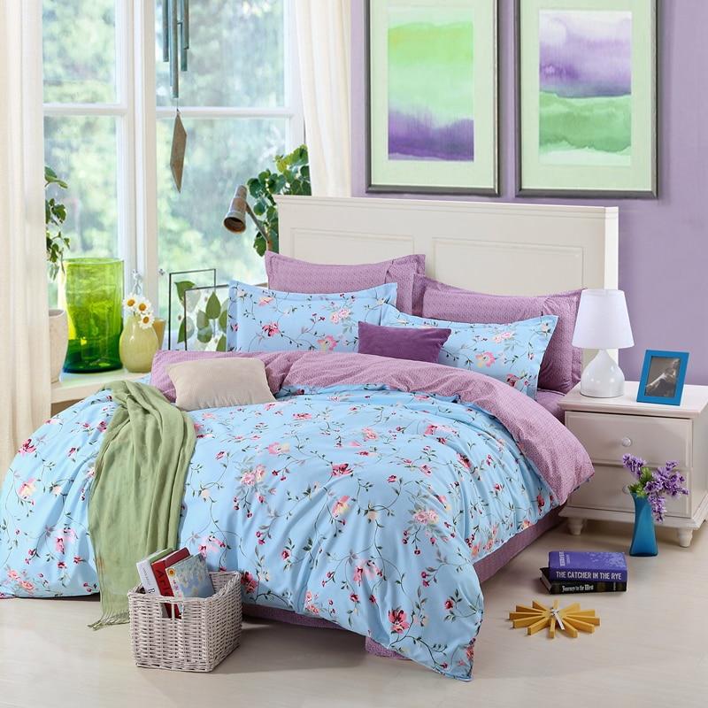 Fanaijia 3d flower bedding sets king blue duvet cover Pillowcase bed sheet Bedspread 3/4 pcs Bedlinen queen size comforter sets