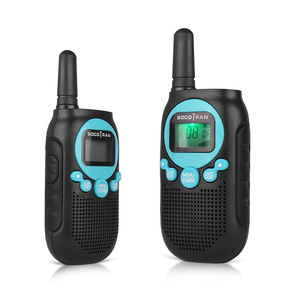 SOCOTRAN SC-R40 Walkie Talkie 2 Pcs Child Radio PMR446 License Free RADIO 8CH With Privacy Code, VOX Radio Amador