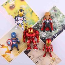 5pcs/lot CartoonThe Avengers series anime characters Marvel hero  3D fridge magnets Toy Figures Refrigerator Kids Gift