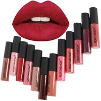 Fashion Makeup Matte Lipstick Long-Lasting Liquid Lip Makeup Tint Tattoo Lipstick Easy To Wear Nude Red Lip Gloss Cosmetic  DQ69 Lipstick