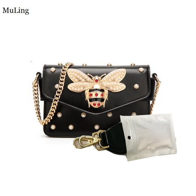 Messenger Bag Women Handbag Famous Brand Leather Shoulder Bag Small Pearl  Bee Crossbody Wedding Bags Clutch Black Red BaoBao GG
