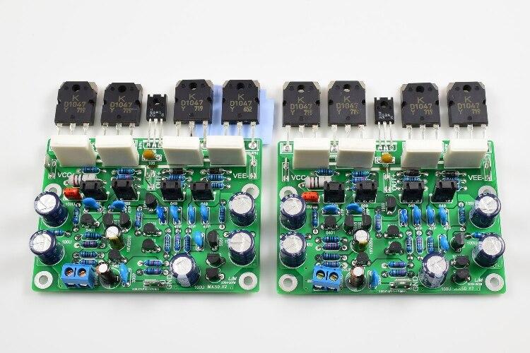 LJM 2019 New MX50X2 Class AB Audio Power Amplifier AMP Kit 2 Channel Based on X
