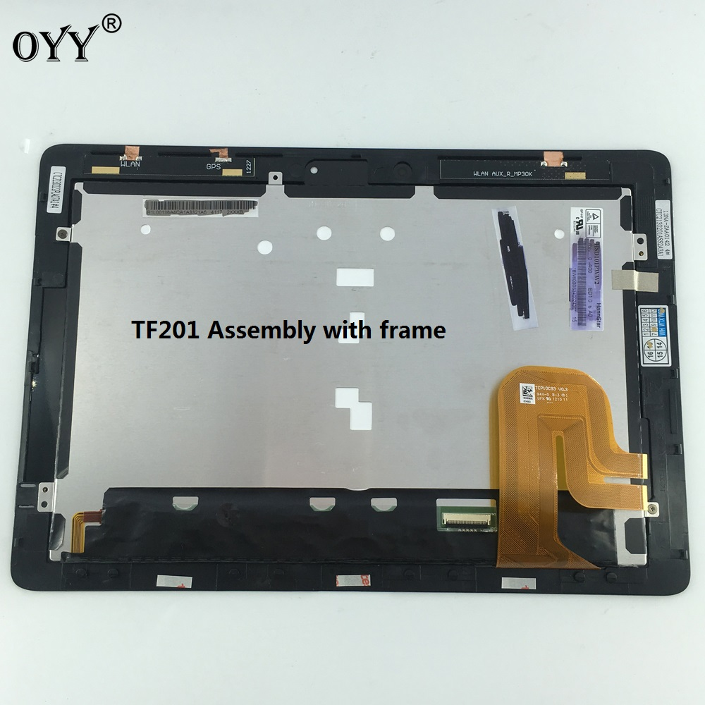 HSD101PWW2 LCD display screen touch screen Digitizer Assembly with frame For Asus Transformer Pad TF201 TCP10C93 V0.3 vesion new 8 inch for asus memo pad 8 me180 me180a digitizer touch screen with lcd display assembly frame