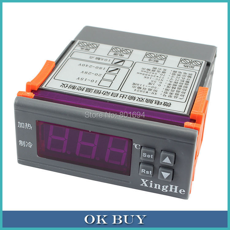 AC 220V Constant Cooling Heating Dual Output LED Digital Temperature Controller -50~110 Degree Celsius Automatic Thermostat dial thermostat temperature control switch for electric oven ac 220v 16a 50 300c degree y05 c05