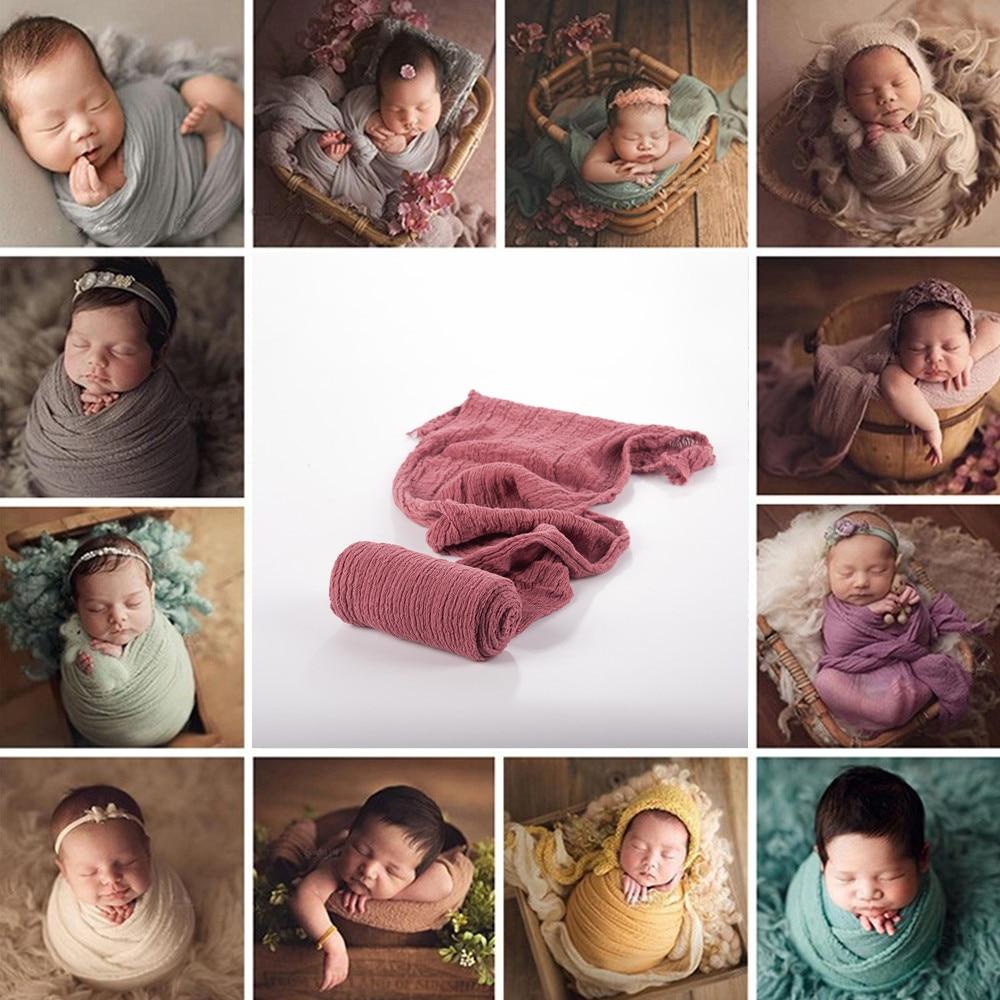 Stretch Baby Photography Props Blanket Wraps Organic Cotton Wrap Soft Infant Newborn Photo Wraps Cloth Accessories 40*180cm 1