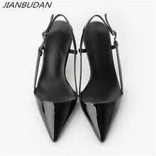 JIANBUDAN Estate sexy degli alti talloni delle donne 2020 Elegante delle donne professionali scarpe da ufficio 8 centimetri/10 centimetri superficiale pompe tacco alto 34 41