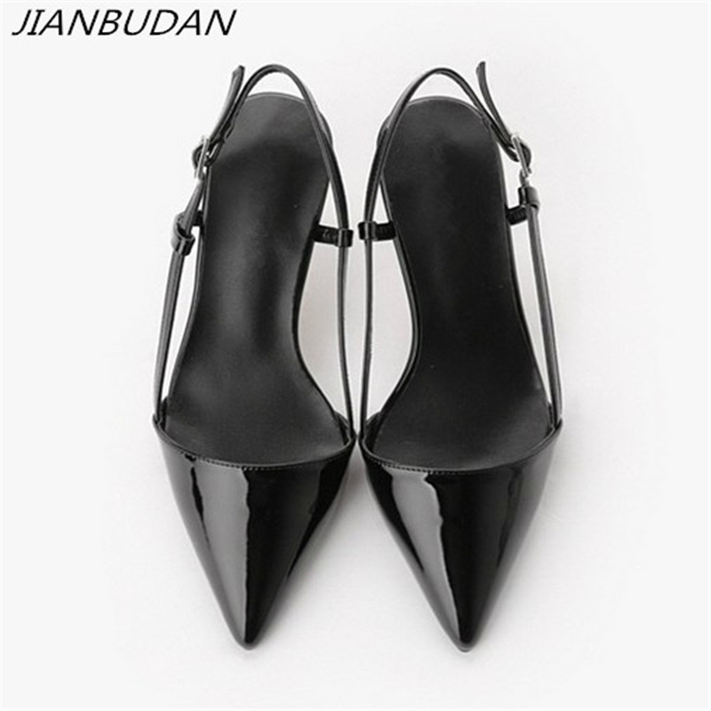 JIANBUDAN Summer Sexy Women's High Heels 2019 Elegant Professional Women's Office Shoes 8cm/10cm Shallow High Heel Pumps 34-41