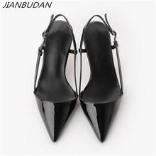 JIANBUDAN Summer sexy womens high heels 2020 Elegant professional womens office shoes 8cm/10cm shallow high heel pumps 34 41