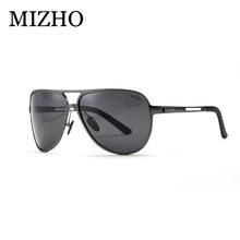 d6c8d7e6d3 MIZHO marca día utilizar controladores coche Sunglass HD Polaroid seguridad  para proteger la vista gafas de sol hombres polariza.
