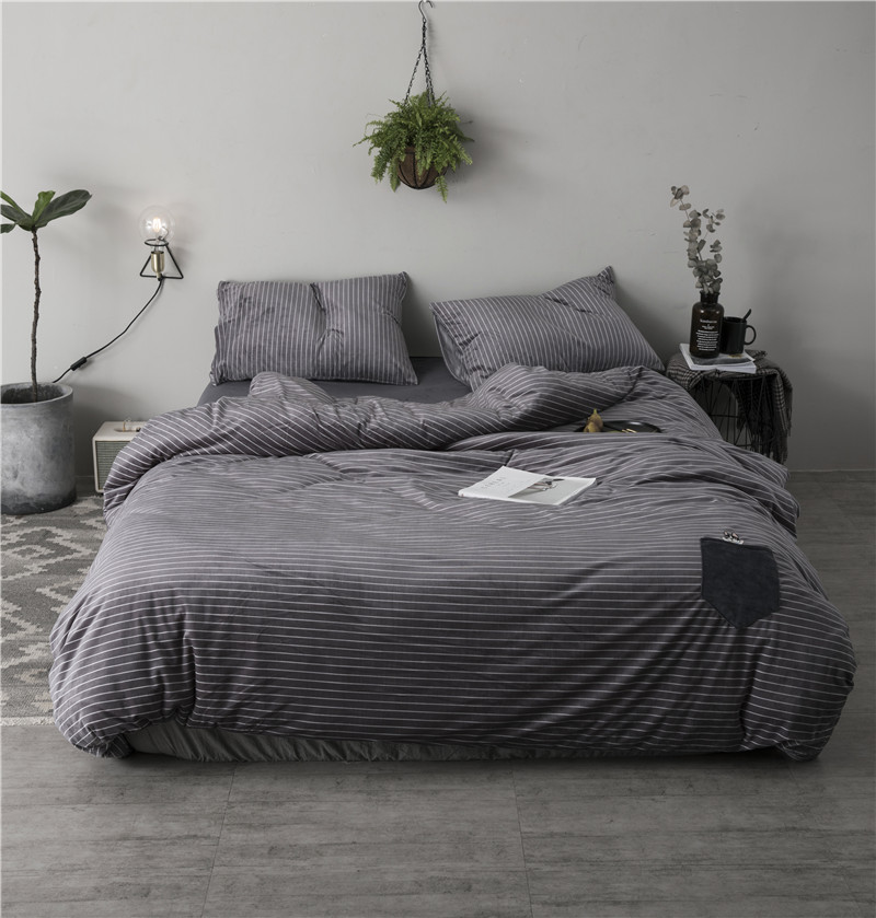 Luxury winter Bedding Set Embroidery Bed Linens Fleece fabric Bed Sheet Set purple gray warm Bedclothes Queen/King Size Bed coveLuxury winter Bedding Set Embroidery Bed Linens Fleece fabric Bed Sheet Set purple gray warm Bedclothes Queen/King Size Bed cove
